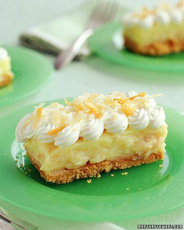 Coconut Cream Bars #dessert #food