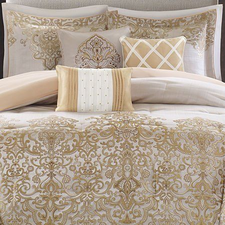c1af9bf9dfe9 Madison Park Vanessa 7 Piece Comforter Set - Gold - King | New House ...