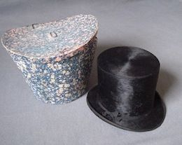 1860's French Hat and Box