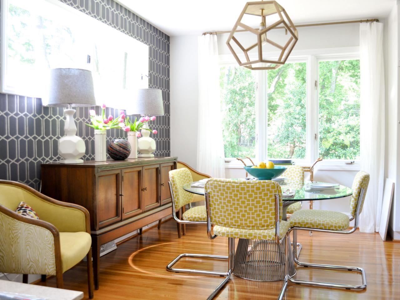 Perfectly Midcentury Mod Vibrant Midcentury Modern Dining Room On Hgtv