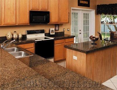 Best Tropical Brown Granite Kitchen Countertops Worktops 640 x 480