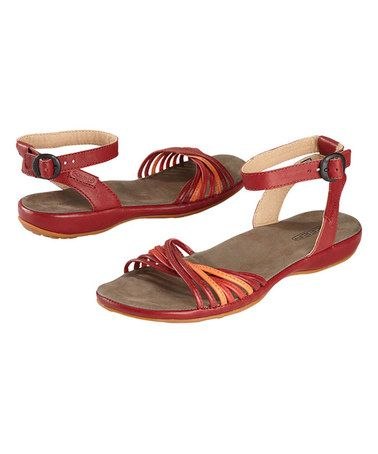 Love this Burnt Henna & Melon Surprise Leather Sandal by KEEN on #zulily! #zulilyfinds