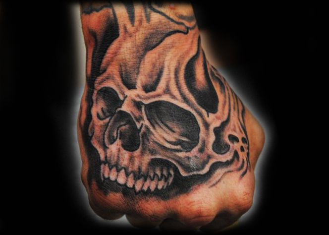 Skull Tattoo On Hand Tattoo Picture Hand Tattoos Hand And Finger Tattoos Hand Tattoos Pictures