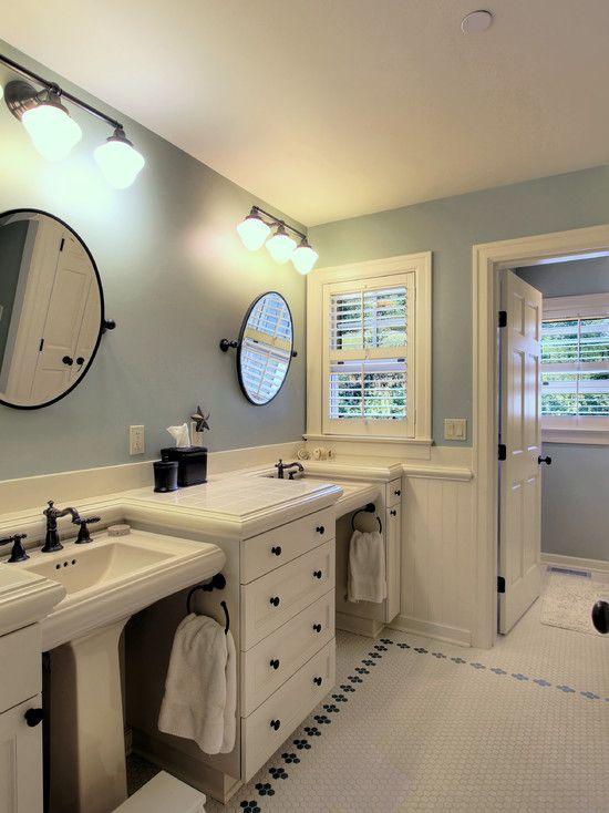 Jack And Jill Bath Design Pictures Remodel Decor And Ideas Jack And Jill Bathroom Bathroom Design Pedestal Sinks