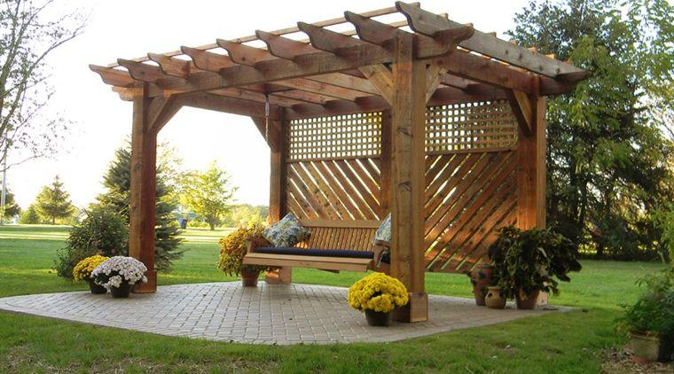Pergolas de madera construcci n y c mo decorarlas - Construccion de pergolas de madera ...
