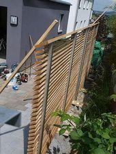 26. Montage Einseitiger Sichtschutz Garden privacy
