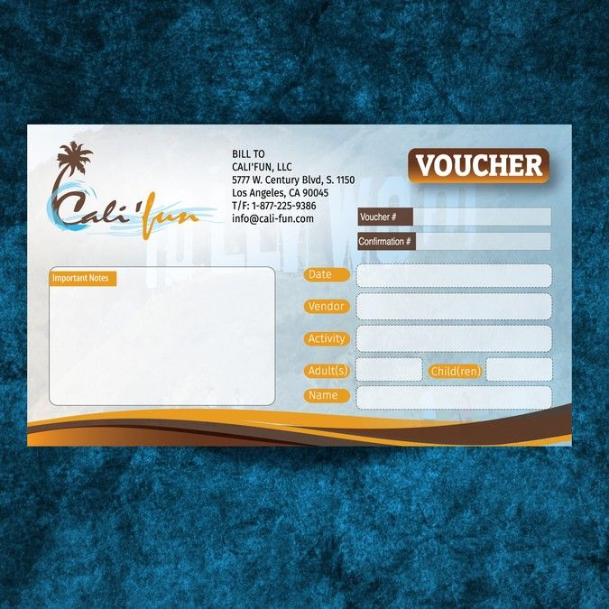 Create the new California-themed voucher for Cali Banner ad - create a voucher