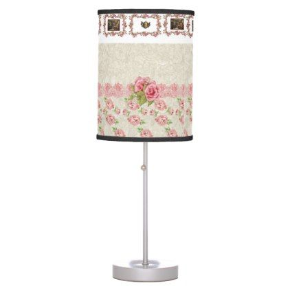 #home #lamps #decor - #pink roses decorative lamp