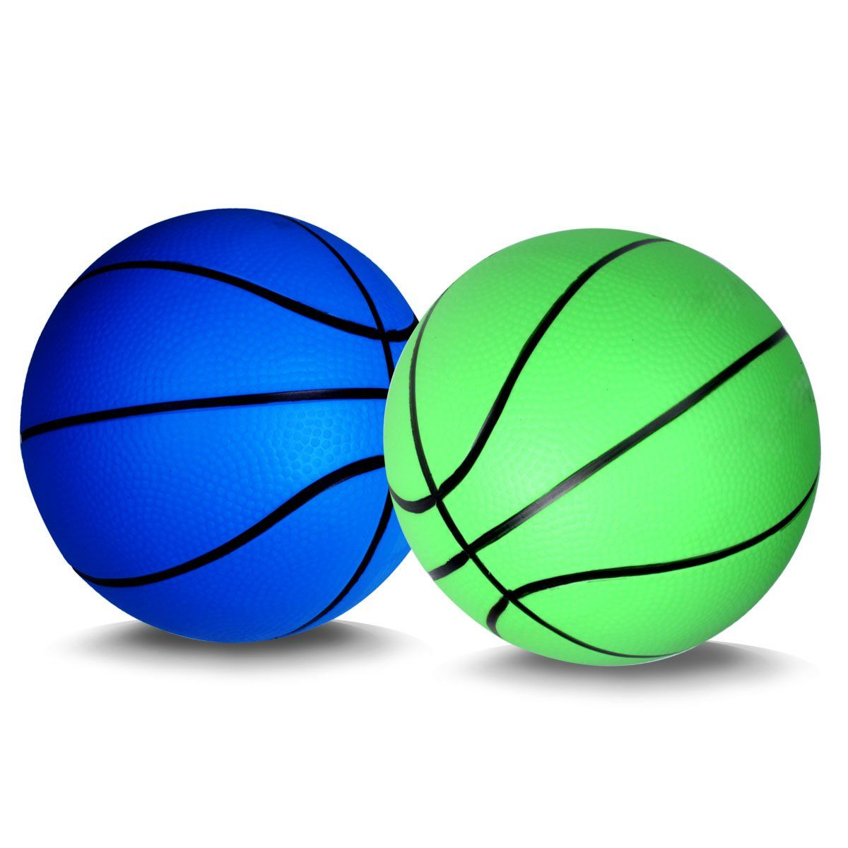 Mini Basketball For Kids Basketballs Baby Toys Ball Indoor Play Game Balls 5 5 Inch 2pcs Green Blue Designe Baby Ball Toy Mini Basketballs Basketball Baby