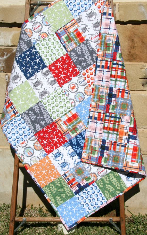 coastal nautical nursery Nautical baby quilt handmade toddler quilts baby quilts for sale homemade quilts fox quilt toddler bedding
