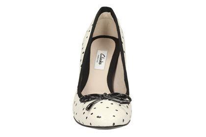 39c4cc0c2fd0 Clarks Idamarie Faye - Black White - Womens Smart Shoes
