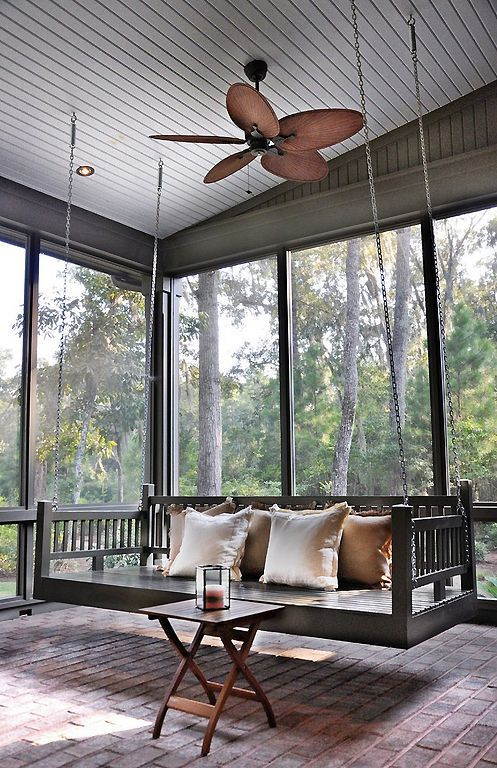 Screened Porch with Swing | Content in a Cottage | Outdoor spaces ...