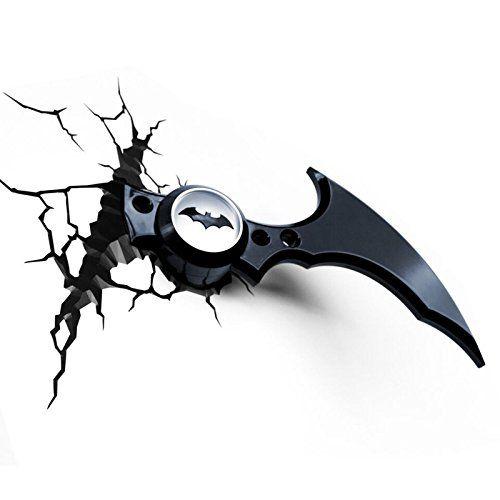 Batman Batarang 3D LED Wall Light Batman https   www.amazon.com 3d5d22e92a5