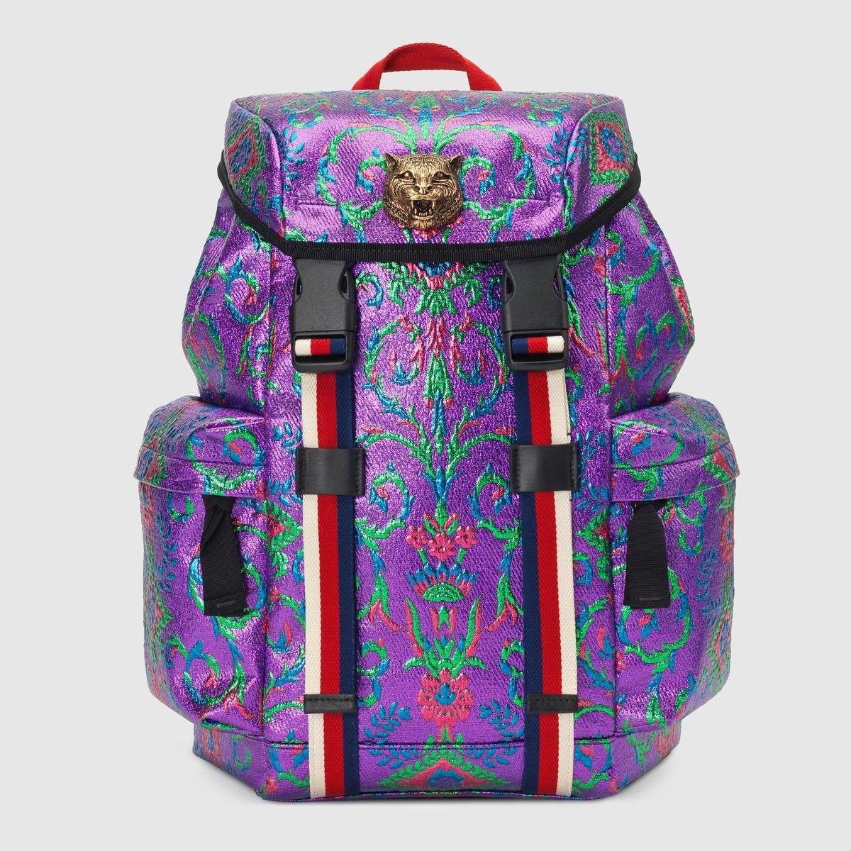 ee2403fa1ff5 GUCCI Multicolor brocade backpack - multicolor brocade.  gucci  bags   leather  lining  silk  backpacks