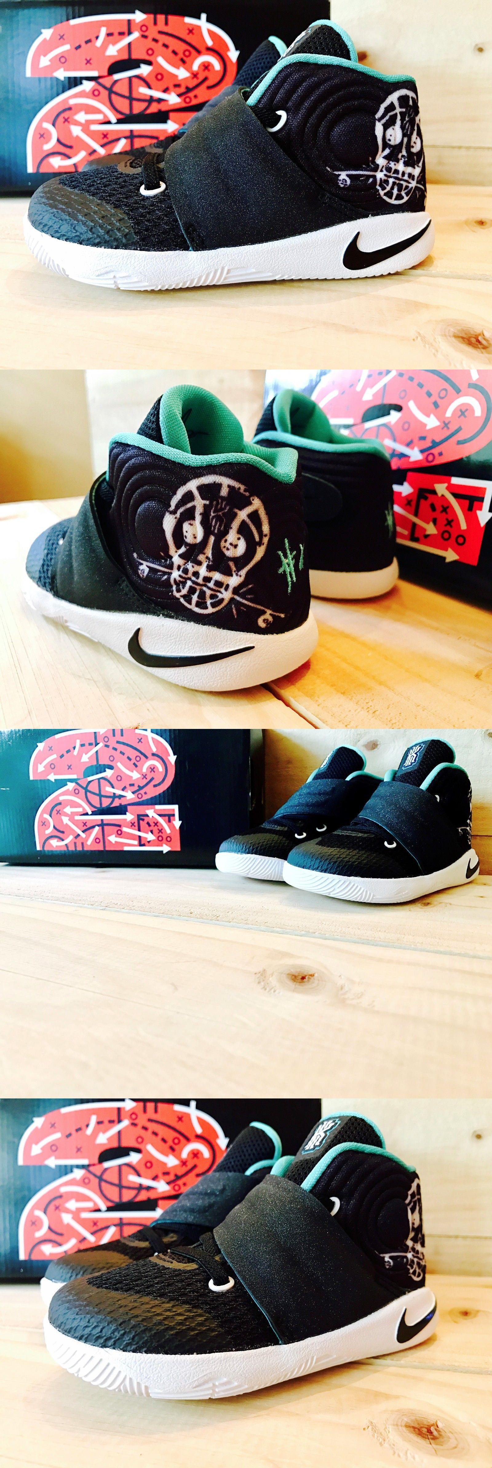 Baby Shoes 147285: Nike Kyrie 2 Court Deck Black + Hyper Jade Teal Toddler  Boys