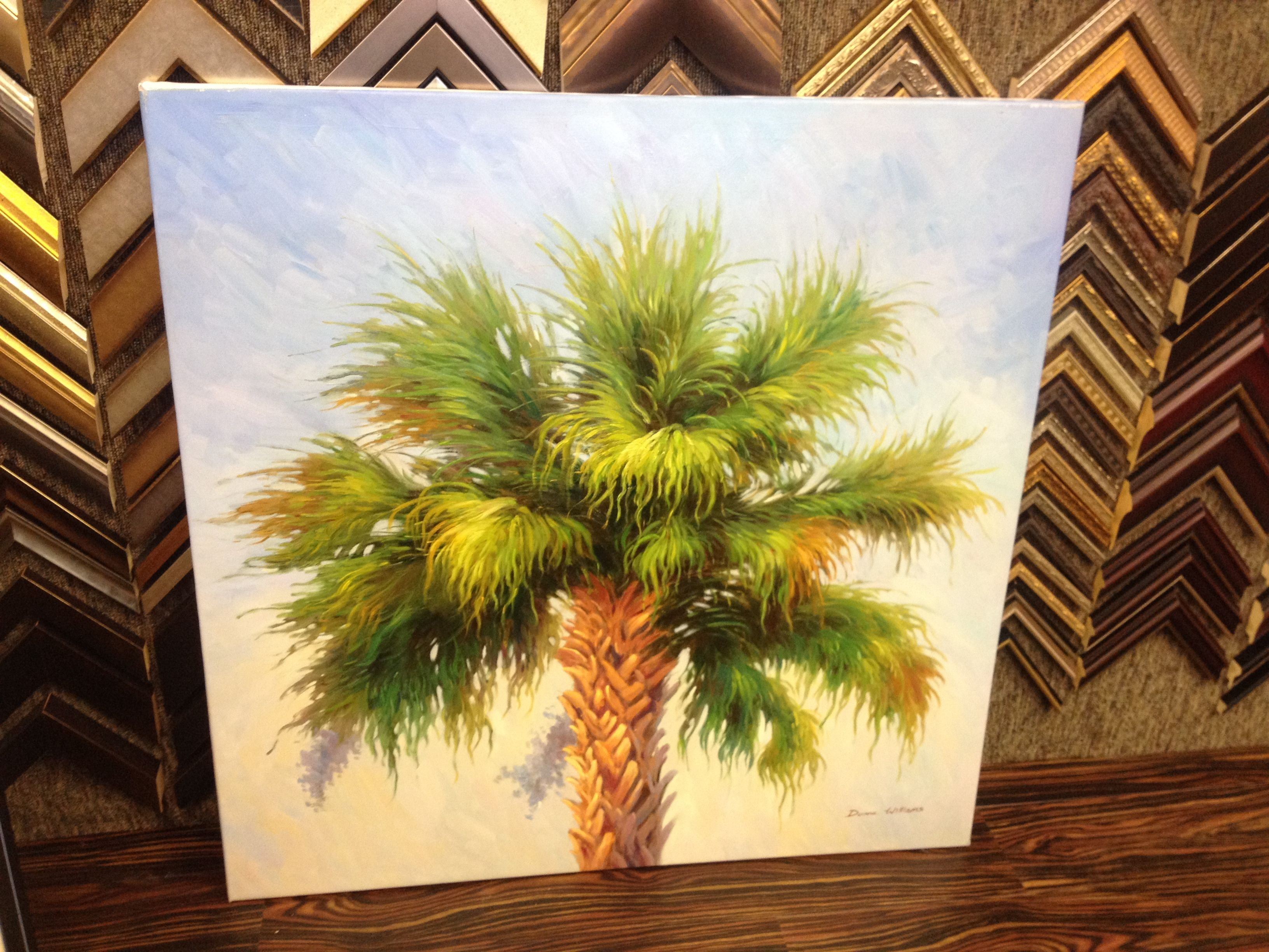 24x24 oil painting of a Palmetto tree top — at Off the Wall Art ...