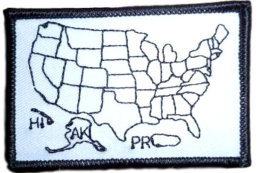 Single Count Custom And Unique By Inches Rectangle - Us states traveled map