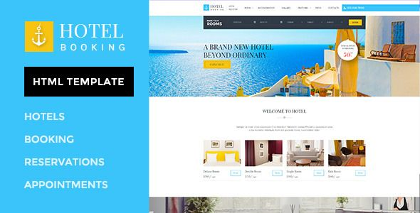 Hotel Booking - HTML Template for Hotels | Clean design