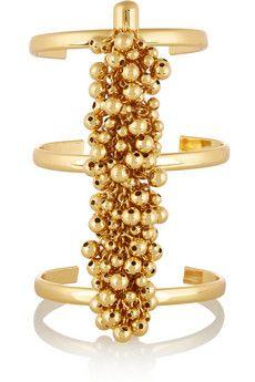 Paula Mendoza Fishbone of Grapes gold-plated cuff | NET-A-PORTER
