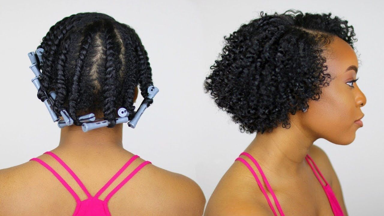 Flat Twist Out With Perm Rods On Short Natural Hair Perfect For Heat Damaged Transitioni Natural Hair Twist Out Natural Hair Twists Short Natural Hair Styles