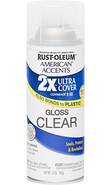 Rust Oleum 280702 American Accents Ultra Cover 2x Spray Paint Gloss Clear 12 Ounce Rustoleum Exterior Primer Rock Painting Supplies