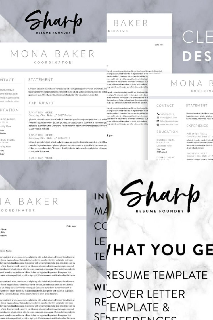 Modern Resume Template for Word Resume words skills