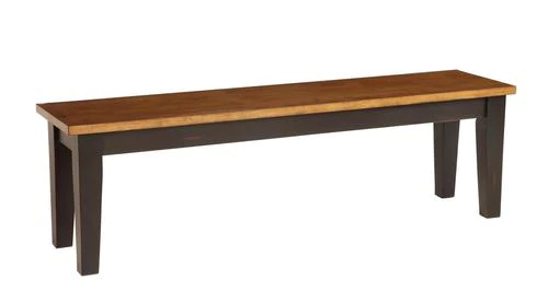 Pecan And Black 60 Bench Metal And Wood Bench Wood Bench Wood