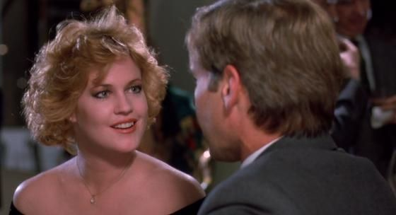 Melanie Griffith and Harrison Ford in movie ' Working Girl ...