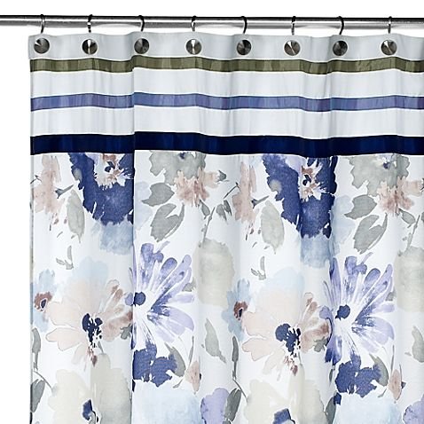 CroscillR WaterColor Fabric Shower Curtain