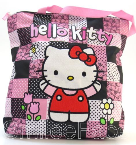 Hello-Kitty-Tote-Bag-Canvas-Beach-Bag-Shopper-Purse-Shoulder-Bag-Handbag
