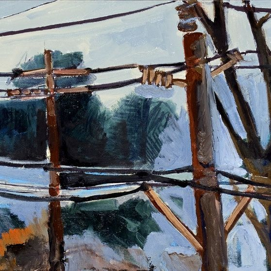 Wires, Trees, and Railroad tracks along East Third Street VI ...