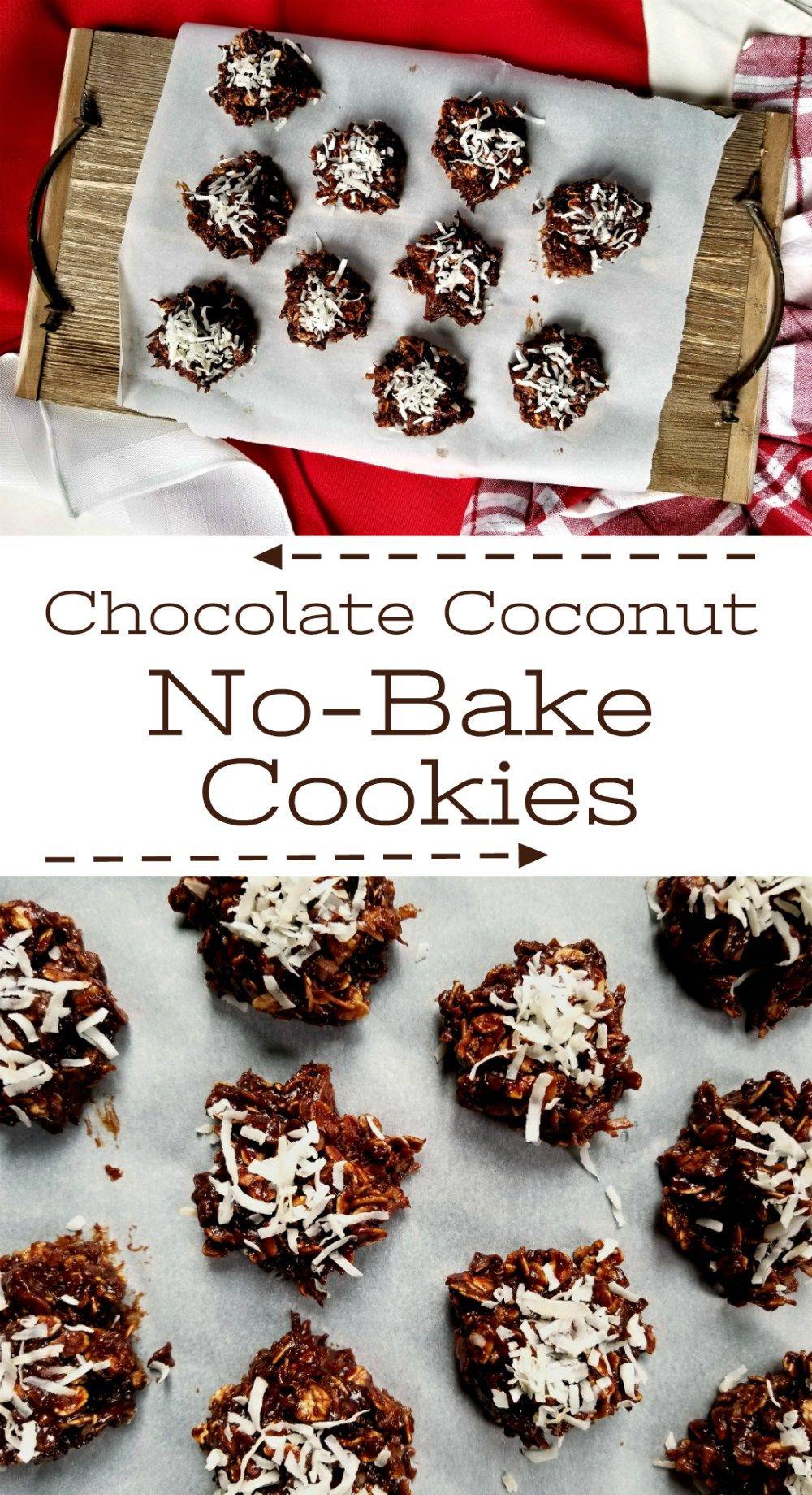 Chocolate Coconut NoBake Cookies Recipe Chocolate