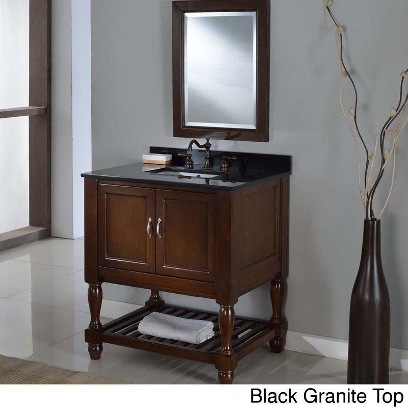 Direct Vanity 32-inch Dark Brown Mission Turnleg Spa Single Vanity