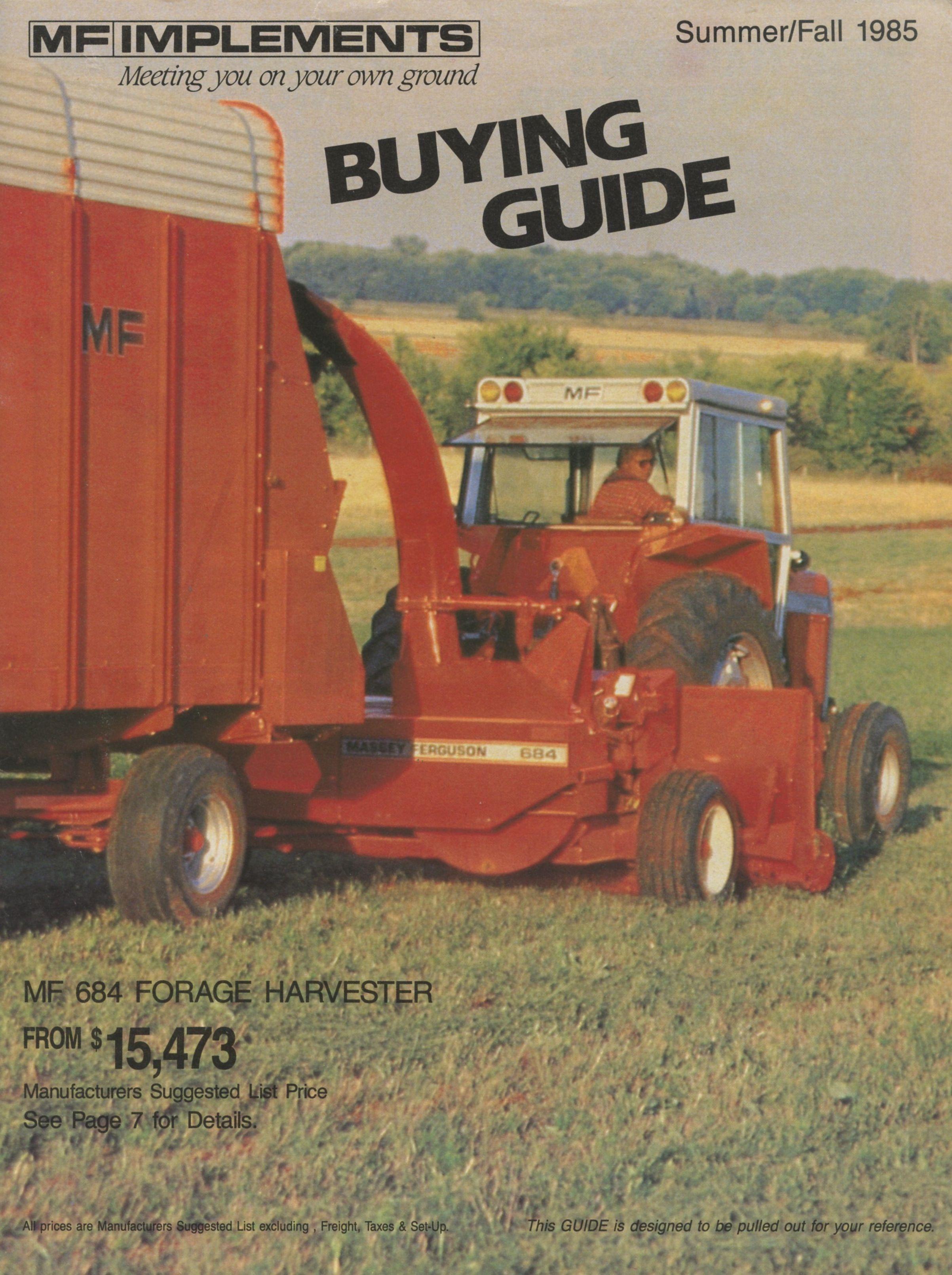 Massey Ferguson 1985 Equipment Buyers Guide