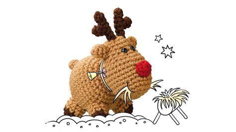 rudi rentier free pattern de janagurumi weihnachten h keln tiere h keln und stricken. Black Bedroom Furniture Sets. Home Design Ideas