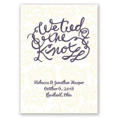 Tied The Knot Wedding Announcement Photo Cards At Invitations By Dawn Wedding Announcements Wedding Invitation Trends Wedding Announcements Photos