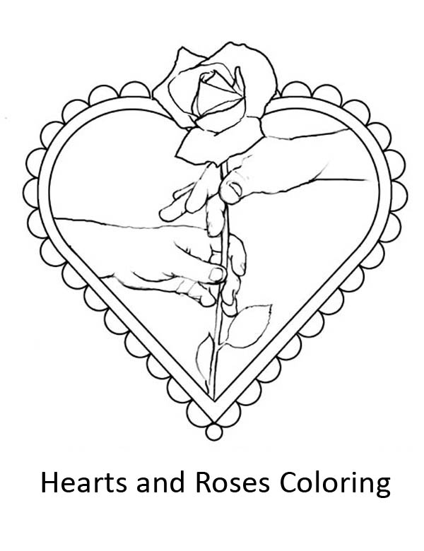 I Give You My Hearts And Roses Coloring Page Color Luna Valentines Day Coloring Page Valentine Coloring Pages Valentine Coloring