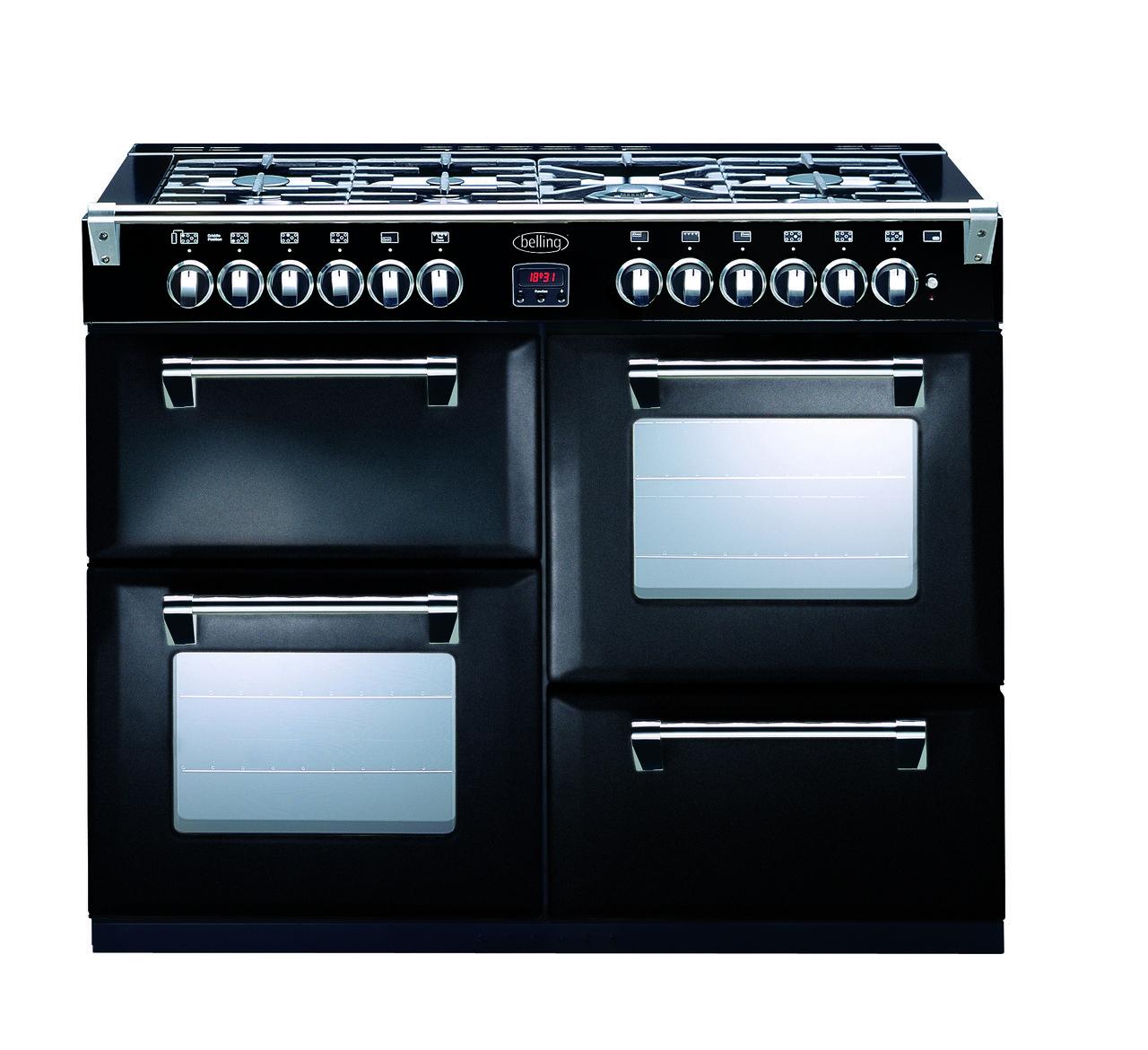 Berloni Appliances - BELLING 110CM BLACK RICHMOND DUAL FUEL FREESTANDING OVEN - BR1100DF, $5,499.00 (http://www.berloniappliances.com.au/belling-110cm-black-richmond-dual-fuel-freestanding-oven-br1100df/)