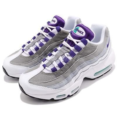 Wmns Nike Air Max 95 OG Retro White Grape Womens Shoes Sneakers 307960-109 fc16f04fed7
