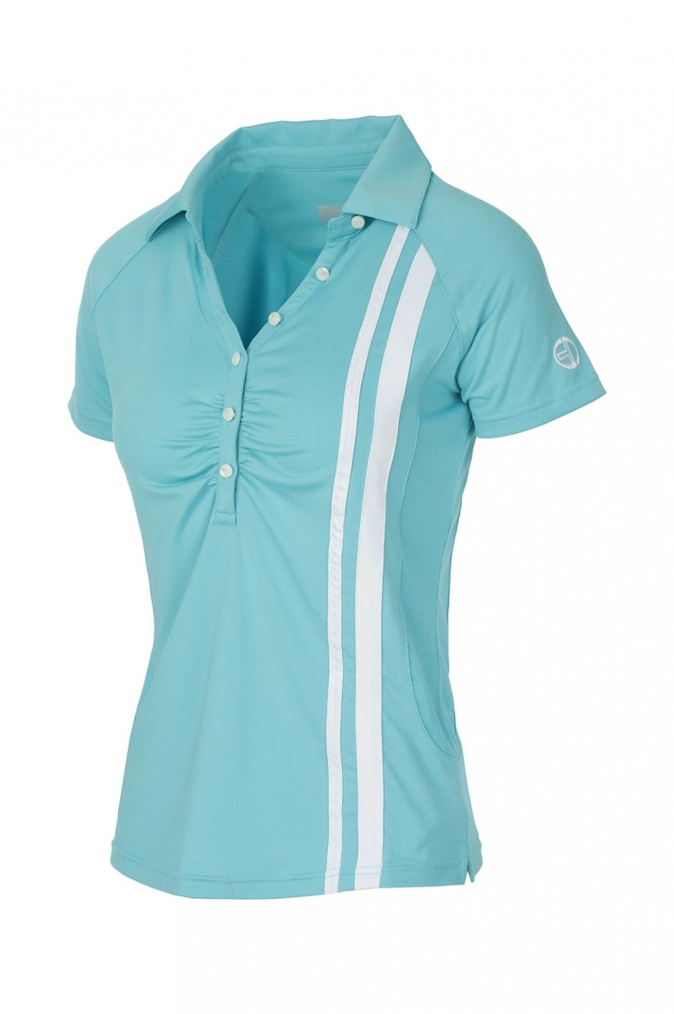 5b19fc90dfd jersey stretch tennis polo with sides that allow perspiration Classic  contrasting Tacchini stripe applied vertically on