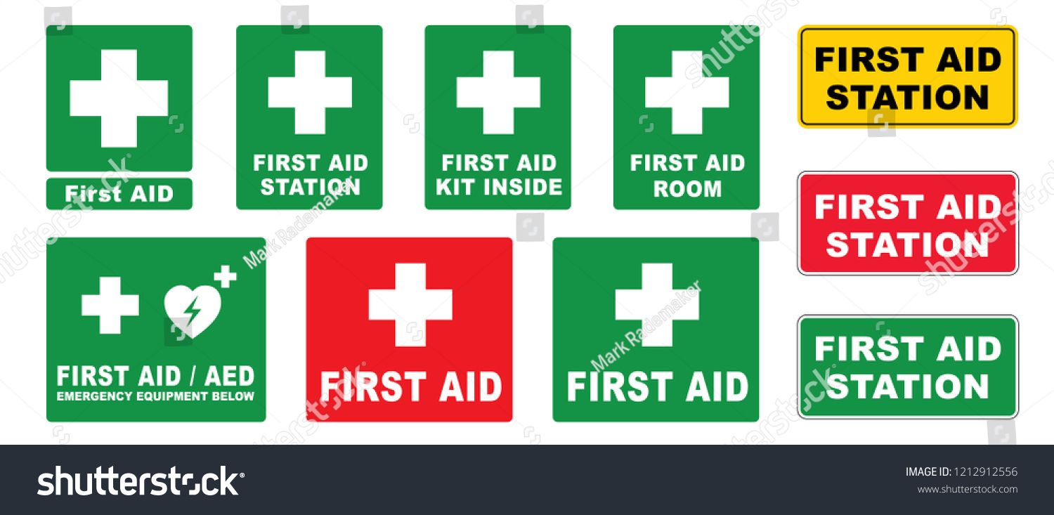 Medical First Aid Logo Vector First Aed Aid Station Emergency Defibrillator Aed Icon Icons Medical Logo Cpr Vector Heal Medical Sign Health Symbol Medical Logo