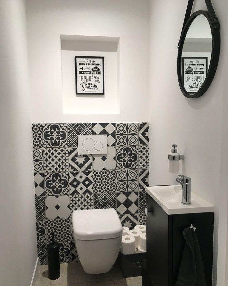 Inspi Deco On Instagram Bathroom Design Inspi Pinterest Picoftheday Toilette Wc Bathroom Bathroom Sink Design Small Toilet Room Bathroom Design