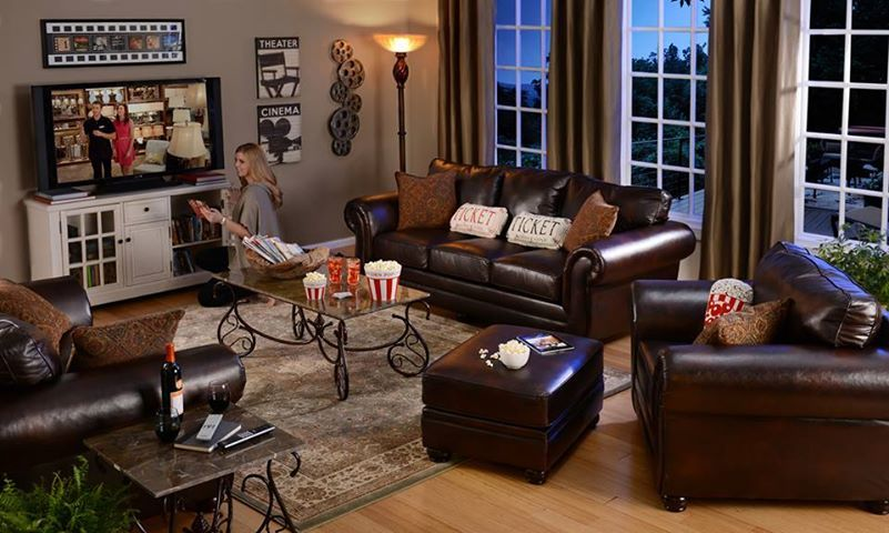 Kirklands Cinema Themed Living Room Basement Ideas