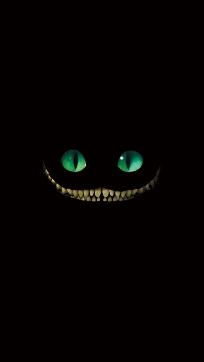 Cheshire Cat Dark Phone Wallpapers Cat Phone Wallpaper Disney Wallpaper