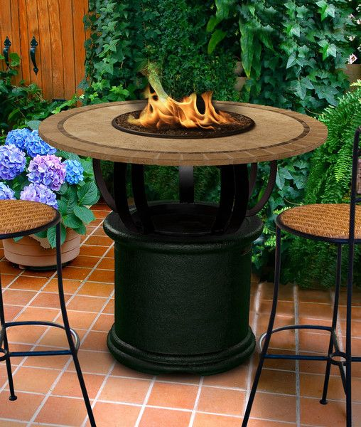 Del mar bar height gaspropane fire pit table outdoor del mar bar height gaspropane fire pit table watchthetrailerfo
