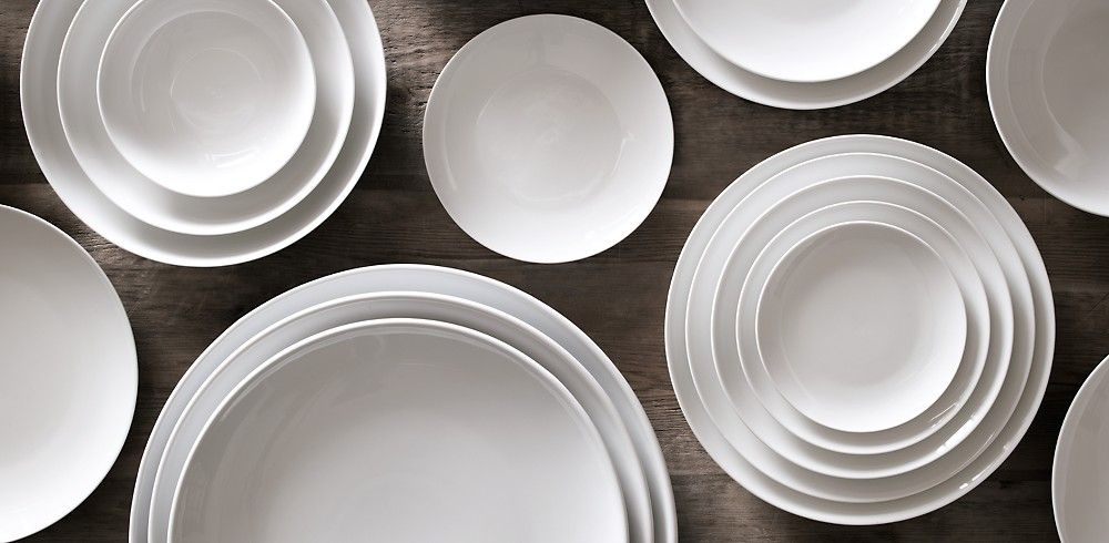 Chinese Porcelain Classic Coupe Dinnerware White Rh Modern White Dinnerware Dinnerware Restoration Hardware