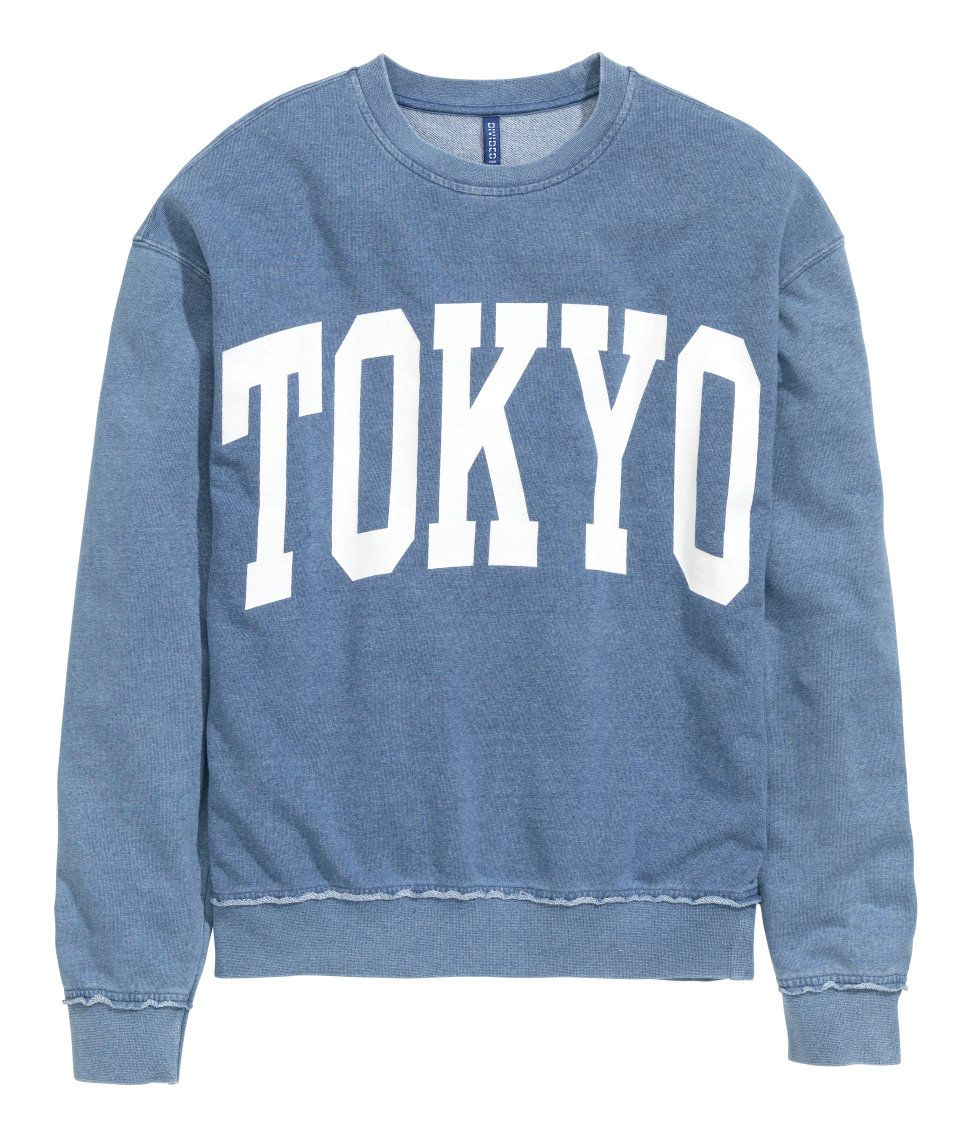 Sweatshirt with Printed Design | H&M Divided Guys | Men's fashion ...