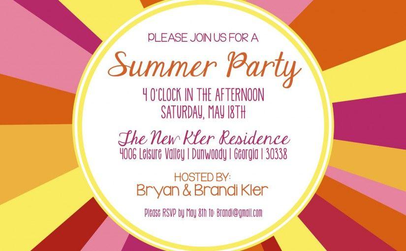 Summer Party Invitation Template Invitation Sample – Invitation Samples for Party
