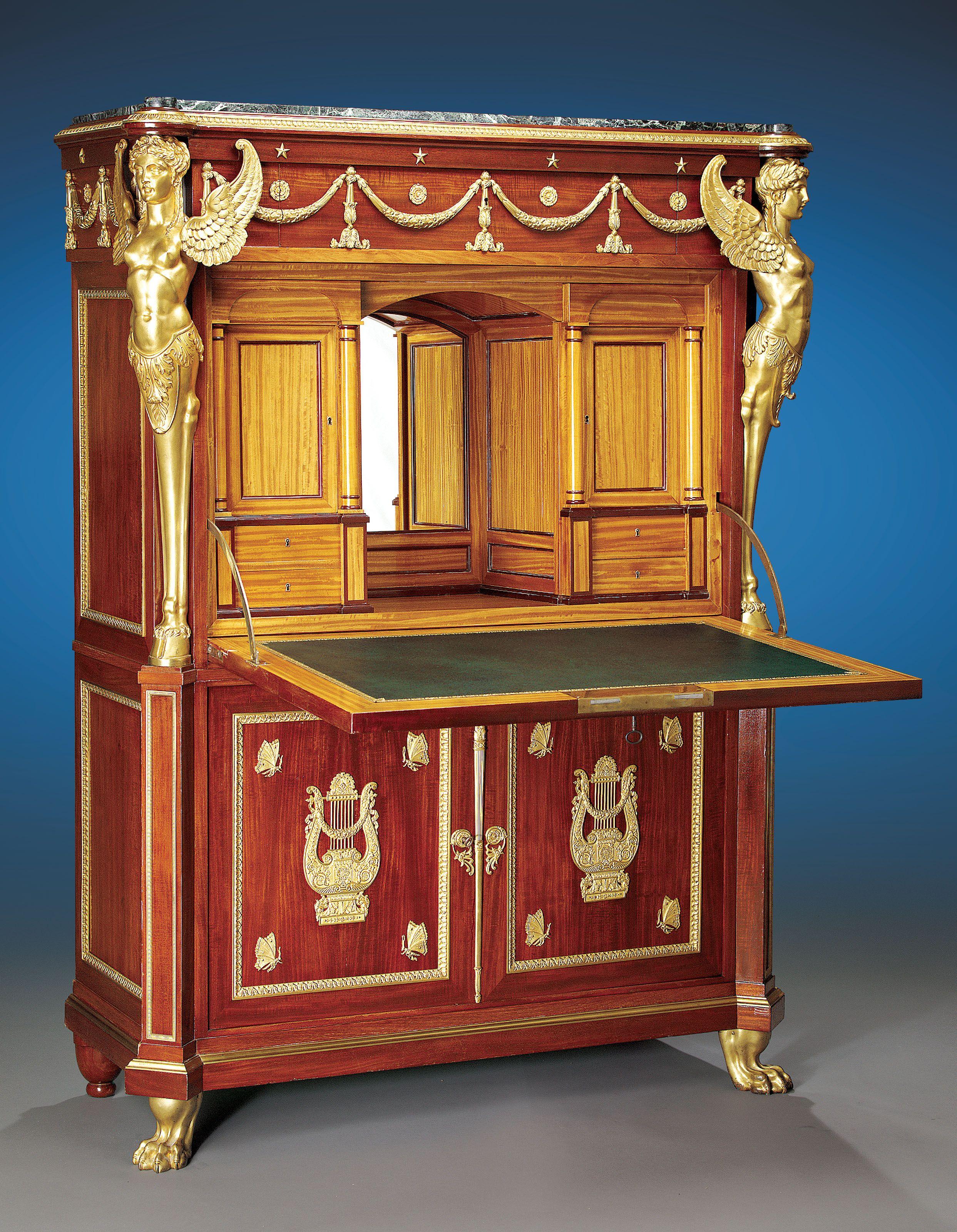 Antique Mahogany Bedroom Furniture Suite: Egyptian King Farouk: M.S. Rau Antique ~ M.S. Rau Antiques