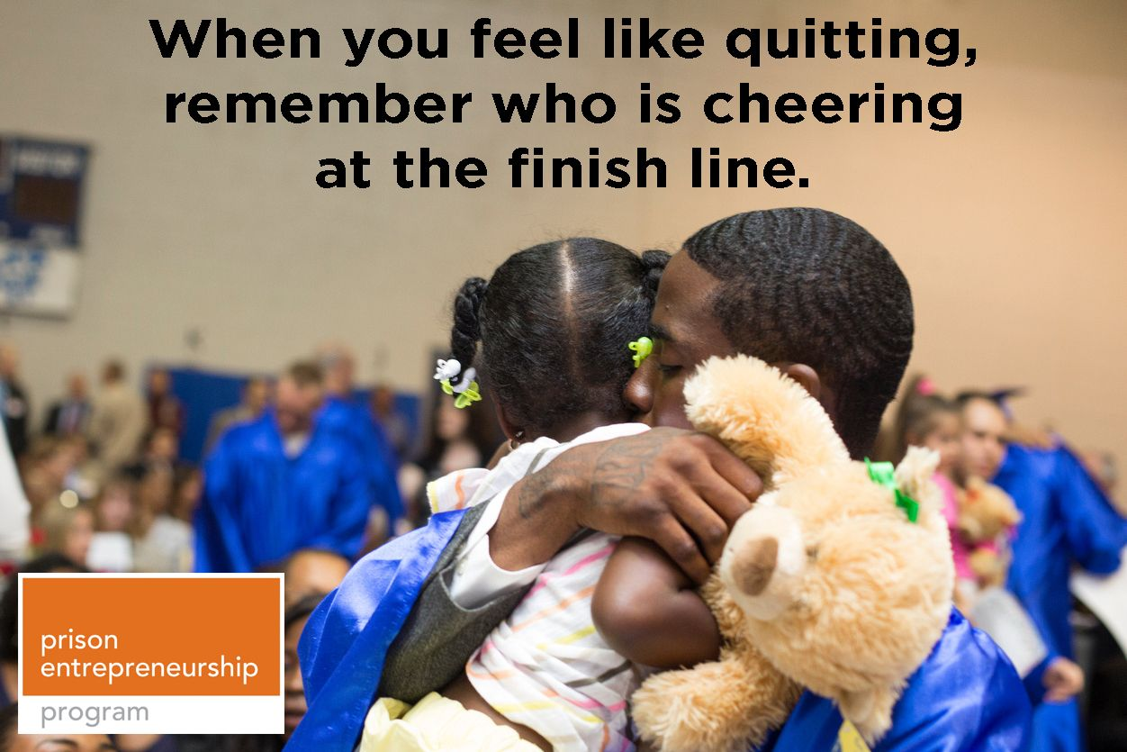 """""""When you feel like quitting, remember who is cheering at"""